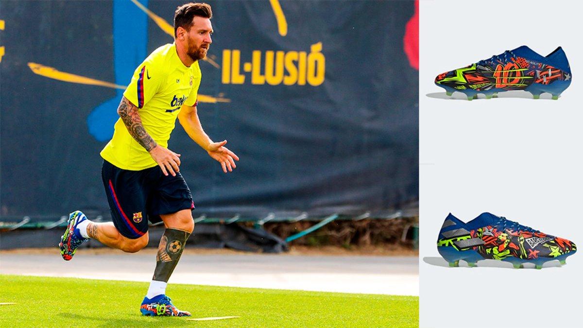 Así son las espectaculares nuevas botas de Messi 'versión
