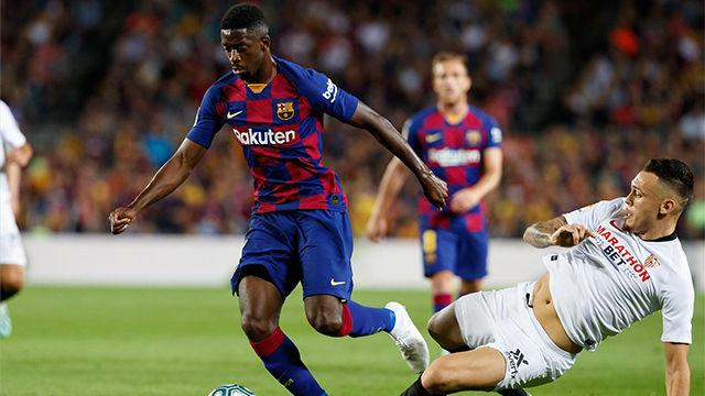 El 1x1 del Barça ante el Sevilla al descanso