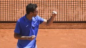 Albert Ramos celebra su pase a la semifinal de Montecarlo