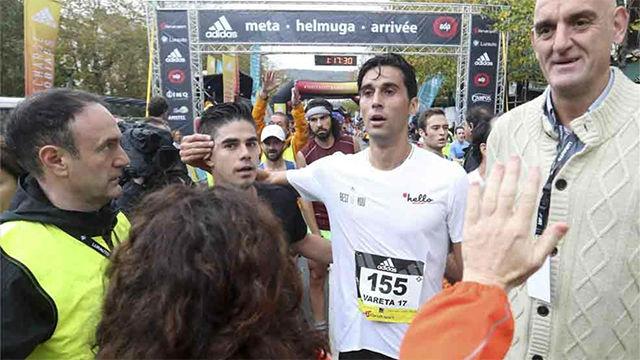 Arbeloa y Xabi Alonso participaron en la Behobia