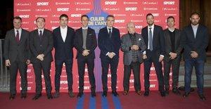 El área deportiva del FC Barcelona arropó a Éric Abidal