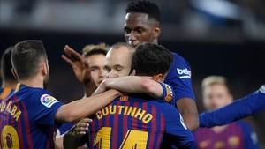 El Barça despidió con victoria la Liga Santander 2017 - 2018