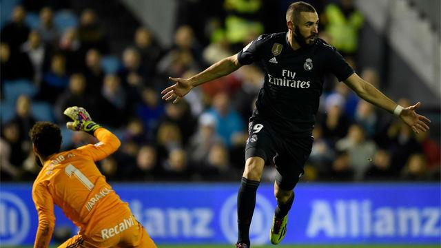 Benzema fabricó el 0-2 con caño incluido y la ayuda de la cara de Cabral