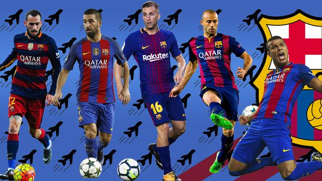 Cinco jugadores del Barça, en la rampa de salida