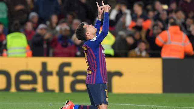 Coutinho volvió a sonreír: golazo de cabeza tras un gran centro de Suárez