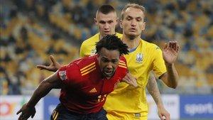 La derrota en Ucrania no ha evitado los elogios a Adama Traoré