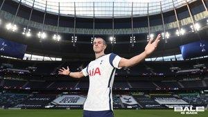 Gareth Bale, en una de las imágenes de promoción de su regreso al Tottenham