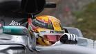 Hamilton se ha tenido que emplear a fondo para marcar la pole position en Shanghai