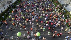 Imágenes del Maratón de Madrid que se celebró el año pasado
