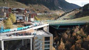 Inauguración de la plataforma y aparcamiento Avet de Soldeu