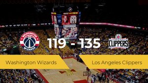 Los Angeles Clippers consigue la victoria frente a Washington Wizards por 119-135