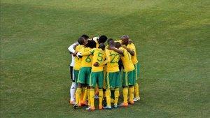 Los Bafana Bafana hacen piña durante un encuentro