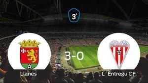 Los tres puntos se quedan en casa: goleada del Llanes al LEntregu (3-0)