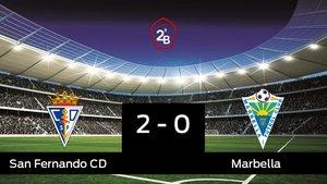 Los tres puntos se quedaron en casa: San Fernando 2-0 Marbella