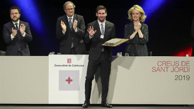 Messi: Con la Creu de Sant Jordi me sentí un catalán más
