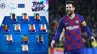 Messi, uno de los tres delanteros de la jornada