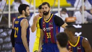 Nikola Mirotic completó un gran partido en su regreso