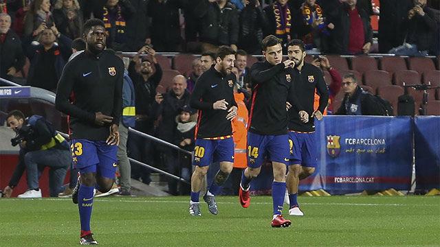 El once del FC Barcelona ante el Valencia