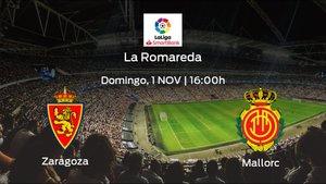 Previa del encuentro: el Real Zaragoza recibe al Mallorca en la décima jornada