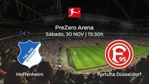 Previa del partido: el Hoffenheim recibe al Fortuna Düsseldorf en la decimotercera jornada