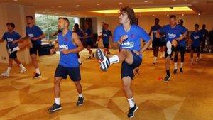 La primera sesión de entrenamiento azulgrana en Japón fue en el hotel