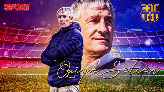 Quique Setién, nuevo entrenador del Barça