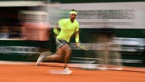 Rafa Nadal, durante la final de Roland Garros 2019