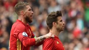 Ramos y Piqué volverán a coincidir la próxima semana con la Roja