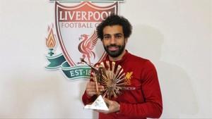 Salah recogió el premio de la BBC
