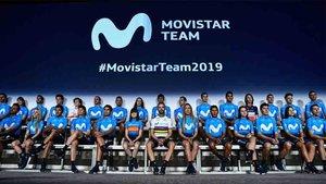 Unzue presentó al equipo Movistar