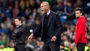 Zidane, durante el partido ante el Leganés