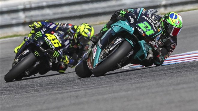Morbidelli degusta su primera pole position de MotoGP en Montmeló