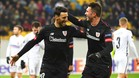 Aduriz celebra uno de sus goles