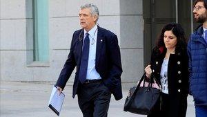 Ángel María Villar llega a la Audiencia Nacional para declarar como investigado por el caso Soule