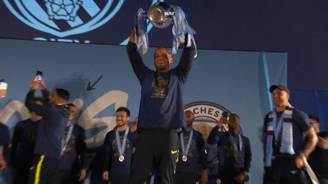 Así fue la celebración del Manchester City tras coronarse campeón de la Premier