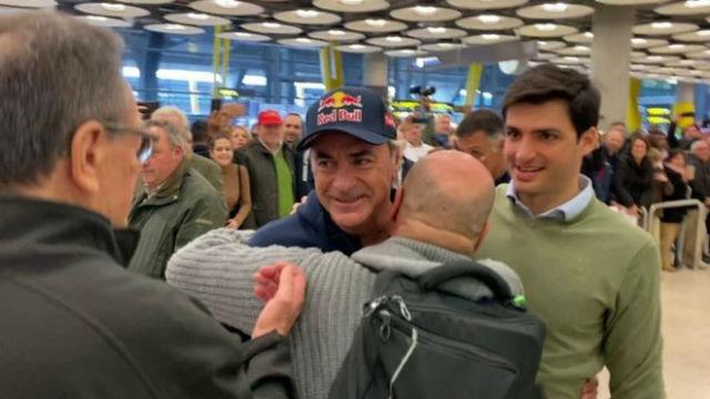 Así fue la llegada de Carlos Sainz a España