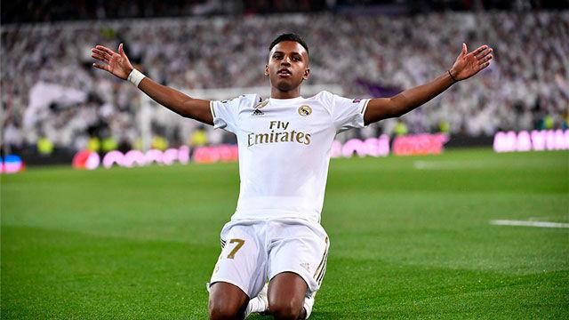 Así recibió Vinicius a Rodrygo tras su hat-trick