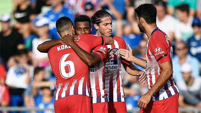 El Atlético no da opción al Getafe y vence cómodamente en el Coliseum