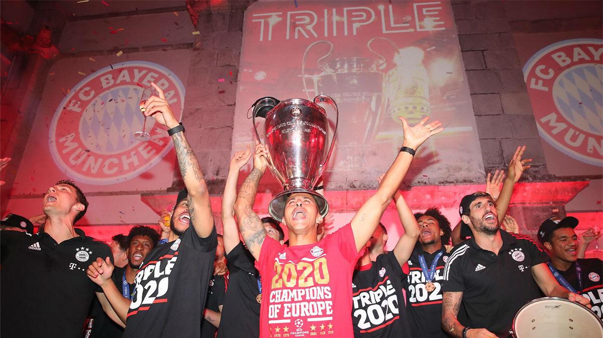 Bailes y cánticos: así celebran los jugadores del Bayern la Champions