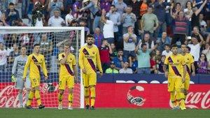 El Barça, cabizbajo