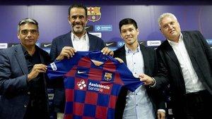 Daniel, junto a Albert Soler, Vidal Abarca y Txus Lahoz