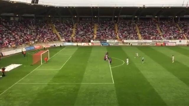 Este gol de Gallar sentenció el ascenso de la Cultural Leonesa