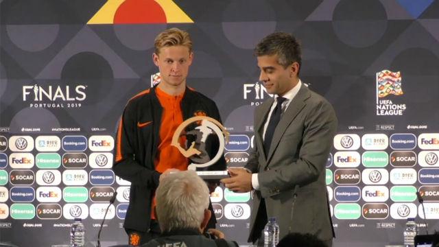 Frenkie De Jong, nombrado mejor jugador joven de la Copa de Naciones