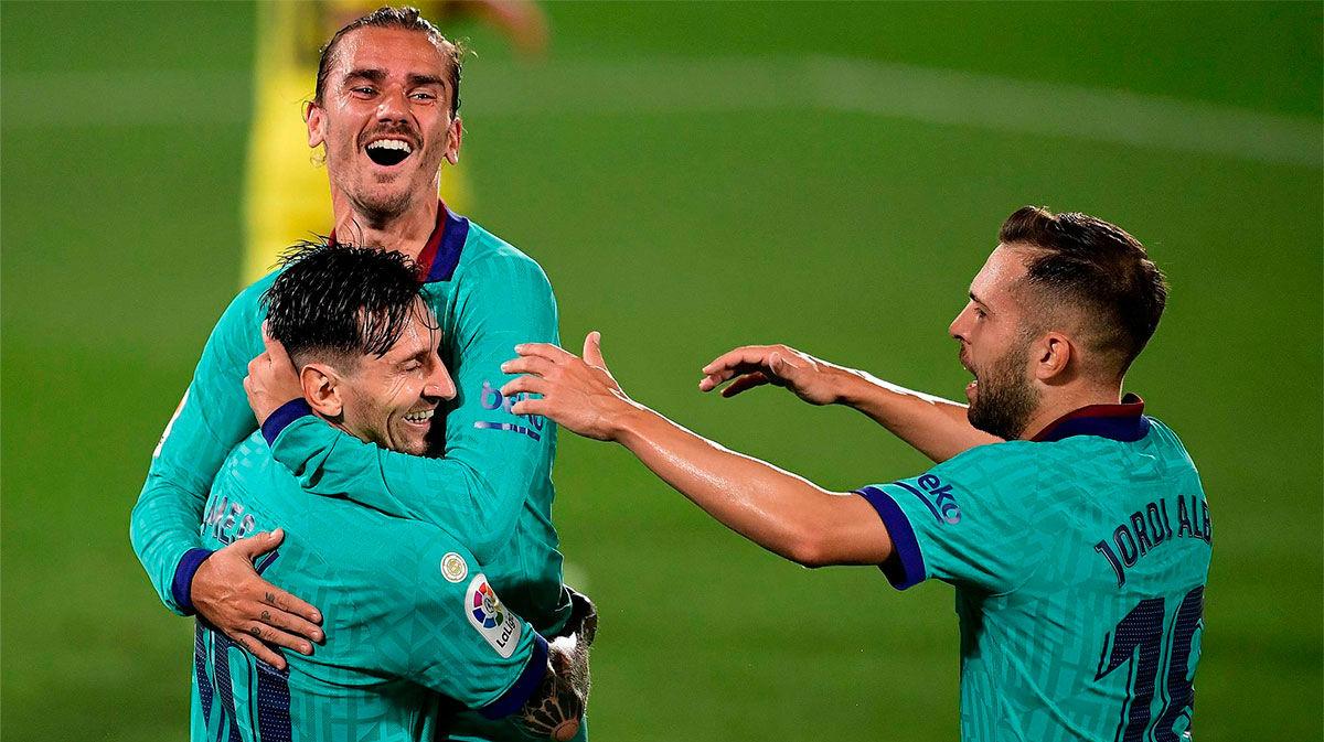 Griezmann volvió a la titularidad con uno de los mejores goles de la Liga