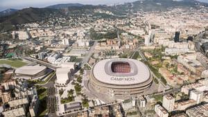 Imagen virtual del Camp Nou tras la remodelación con el proyecto Espai Barça
