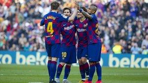 Ivan Rakitic valoró que Leo Messi haya roto su sequía antes de jugar contra Nápoles y Real Madrid