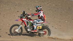 Kevin Benavides es el nuevo líder en motos del Dakar 2018
