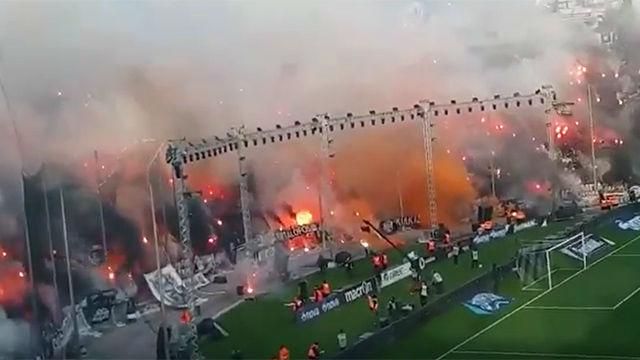 ¡Locura en Grecia! Así lucía el estadio del PAOK en el partido que le coronó campeón
