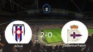 Los tres puntos se quedan en casa: CSD Arzua 2-0 Deportivo Fabril