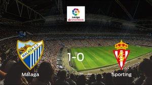 El Málaga se lleva tres puntos tras ganar 1-0 al Real Sporting